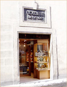 Louis Ciocchetti Jeweller's shop in Siena