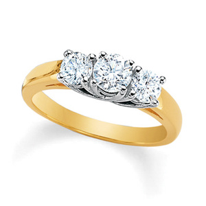 Gold ring from Zales Jewelers Wrightsboro Rd # 1415, 3450, Augusta, GA 30909-0584, USA